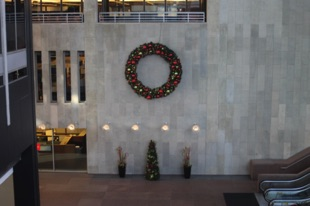 Wreath & Accessories in Lobby