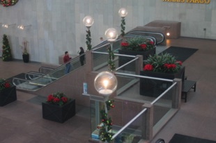 Poinsettias in Lobby